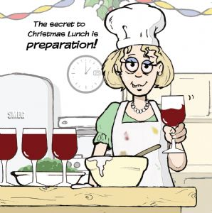 TW291 – Wine Preparation Christmas Card For Her